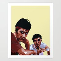 scarface Art Prints featuring Scarface by Taylor Gonzales