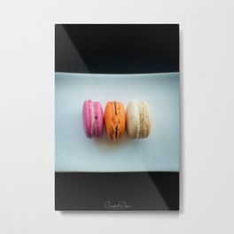 The Art of Food Macarons Metal Print