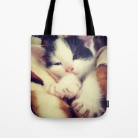 harley Tote Bags featuring Harley by Queenmissy