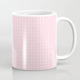 Mini Light Soft Pastel Pink Gingham Check Plaid Coffee Mug