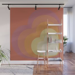 ELISE RED - Mid Century Modern Abstract Pattern Graphic Design Wall Mural