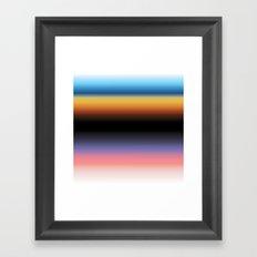 The Skys Colour Framed Art Print