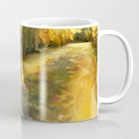 agnes cecile Mugs featuring Agnes - Autumn by Dawn Dudek