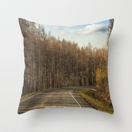 Road To The Top Of The World Throw Pillow