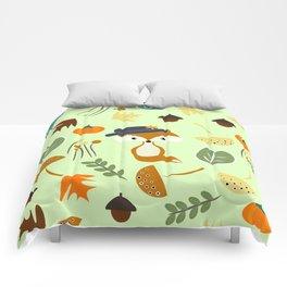 Cute fox in autumn Comforters