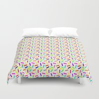 sprinkles Duvet Covers featuring Sprinkles by Gary Hunt Illustration