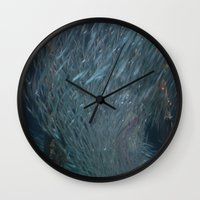 school Wall Clocks featuring School DPG150527a  by CSteenArt