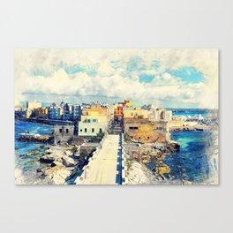 Trapani art 18 Sicily Canvas Print