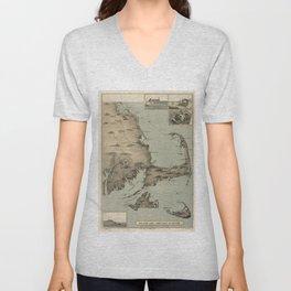 Vintage Map of Cape Cod (1885) Unisex V-Neck