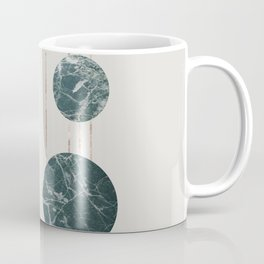 Marble Circles with Golden Stripes Coffee Mug