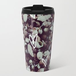 charcoal seashell pattern Travel Mug