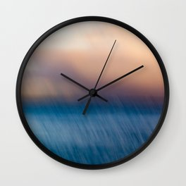 Sunset after the rain Wall Clock