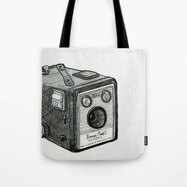 Kodak Box Brownie Camera Illustration Tote Bag
