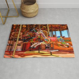 Have a ride on the merry-go-round Rug