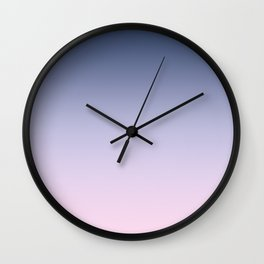Blue Lilac Millennial Pink Ombre Gradient Pattern Wall Clock