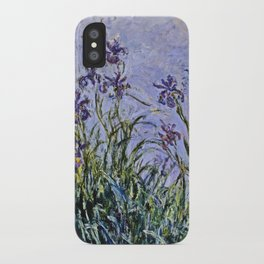 Claude Monet  -  Iris Mauves iPhone Case