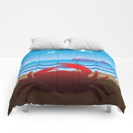 Crab Whale Watch Comforters