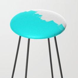 Shiny Turquoise balance Counter Stool