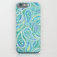 Aqua paisley Slim Case iPhone 6