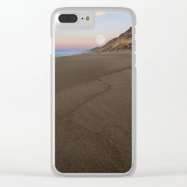 Journey to the moon Clear iPhone Case