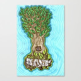 Rooted Figures Canvas Print