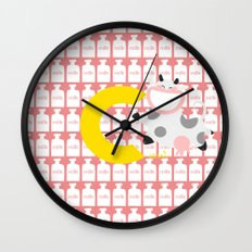 c for cow Wall Clock