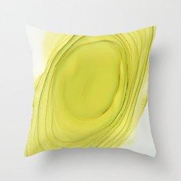 Green Swirl Composition Throw Pillow