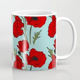 Red poppies pattern Coffee Mug