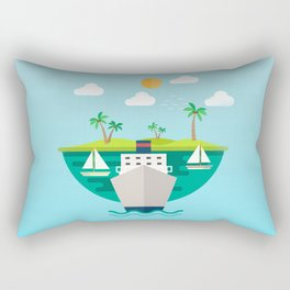 Shipping in The World Rectangular Pillow