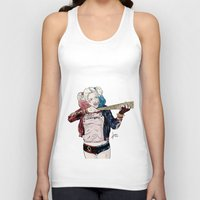 harley Tank Tops featuring Harley Quinn by jorgeink