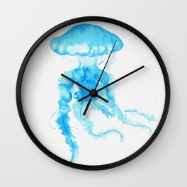 Jellyfish - Clear Blue Wall Clock
