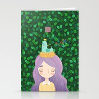 birdy Stationery Cards featuring Birdy by chicapato