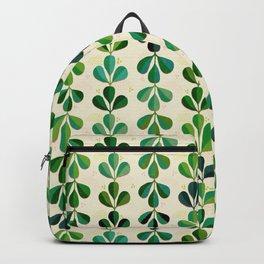 Gouache Leaves - Tropical Green Backpack