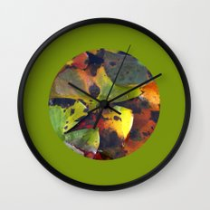 autumn lily pads IV Wall Clock