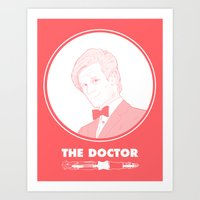 the who Art Prints featuring Who? by Orphan Elliott
