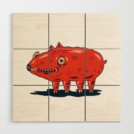 Haifa Pig Wood Wall Art