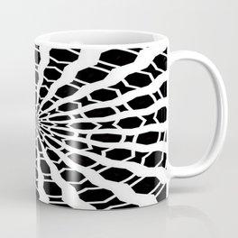 Black and White Bold Kaleidoscope Coffee Mug