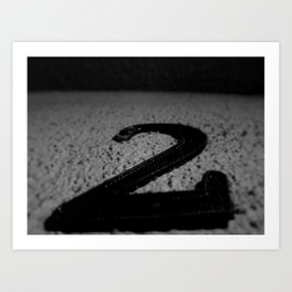 2  the number two Art Print