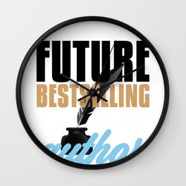 Author Future Bestselling Author Writer Wall Clock