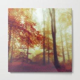 Dreamy Autumn Woodland Metal Print