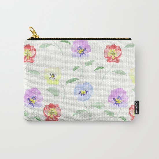 Colored Viola. Watercolor . Carry-All Pouch