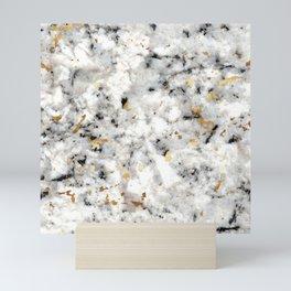 Classic Marble with Gold Specks Mini Art Print