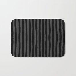 Black and Grey Stripe Bath Mat