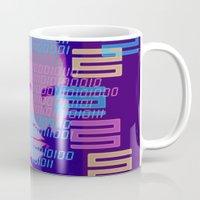 u2 Mugs featuring Cyborg 1 by k_c_s