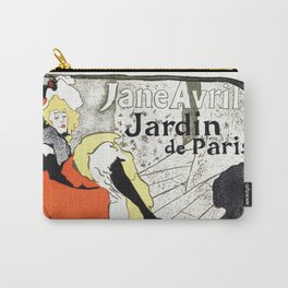 Jane Avril French can-can Jardin de Paris Carry-All Pouch