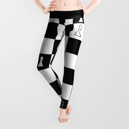 First Move At Chess Leggings