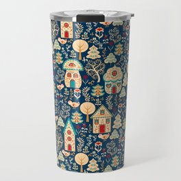 Fabulous Houses in a Magical Forest. Travel Mug