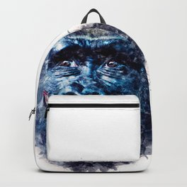 Monkey Watercolor painting Art Backpack