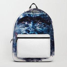 Monkey Watercolor painting Art Backpack