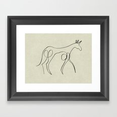 Continuous Line Unicorn Framed Art Print